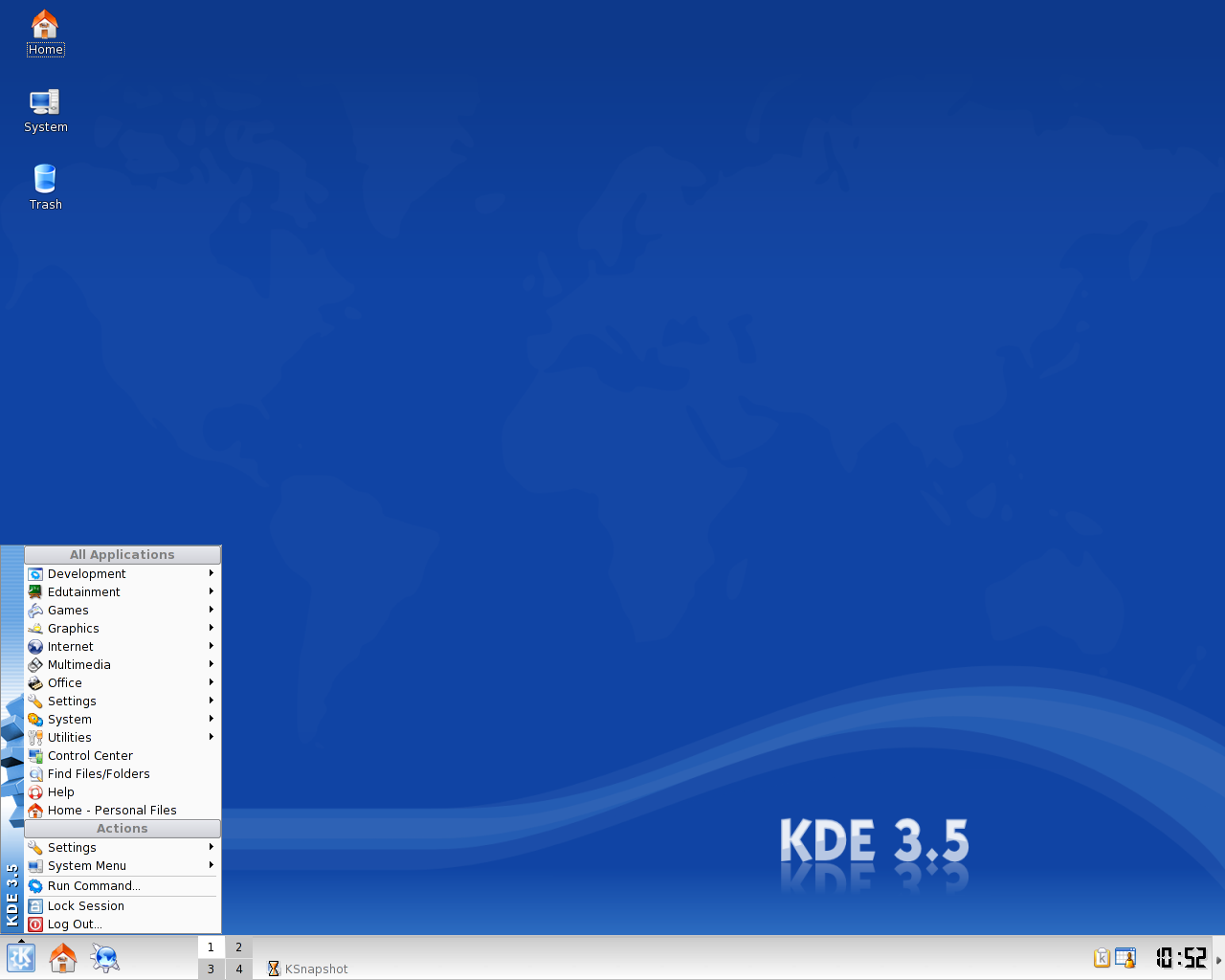 KDE 3.5 Start Menu