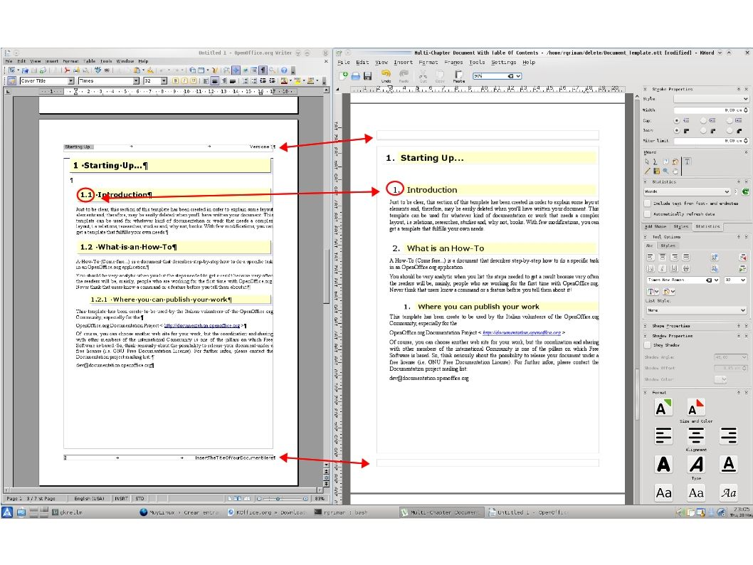 KOffice 2.0.0 vs OpenOffice.org 3.1