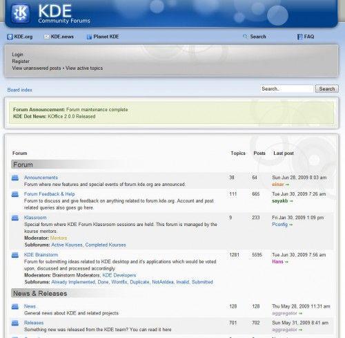 Foros KDE 1