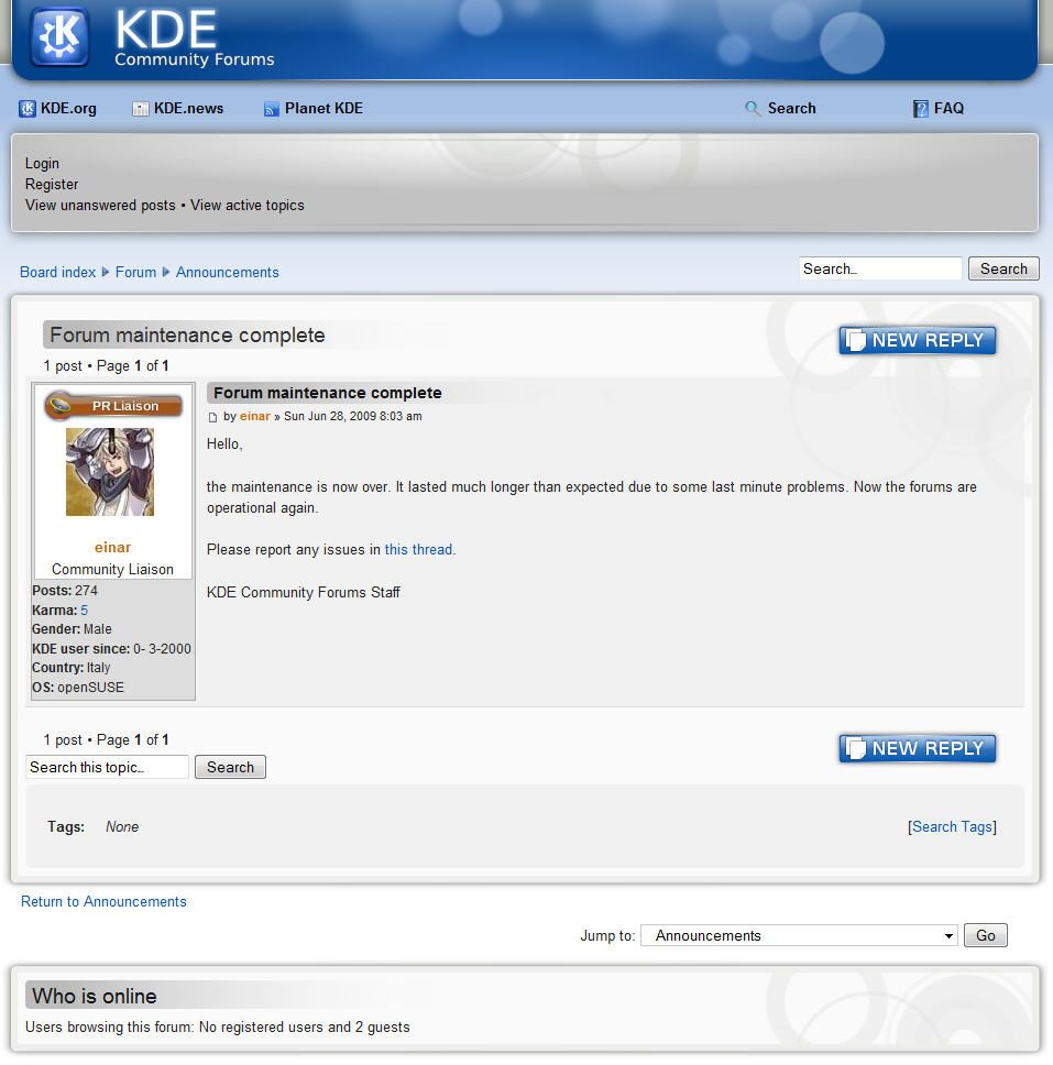 Foros KDE 2