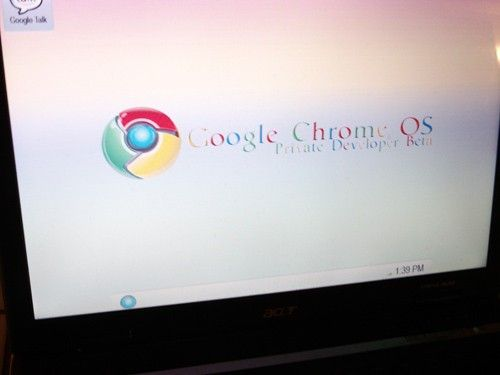 Primera captura de Chrome OS