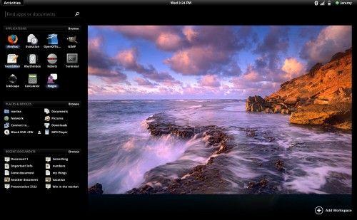 GNOME Shell 3.0 black