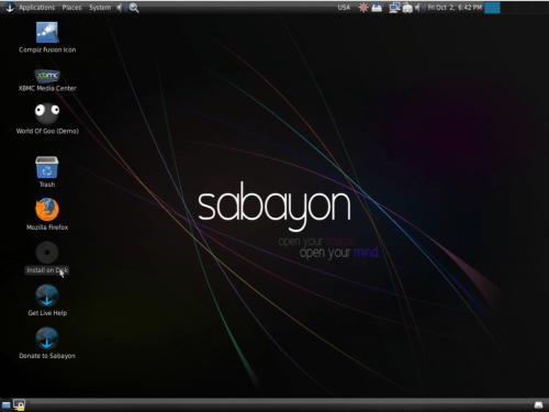 Sabayon 5.o GNOME