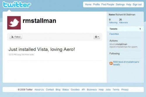 Stallman en Twitter