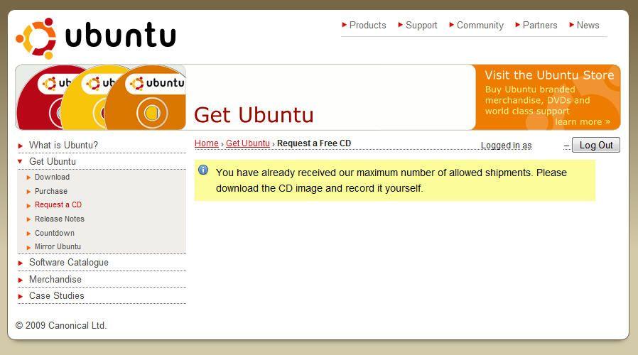 Ubuntu Shipit 9.10