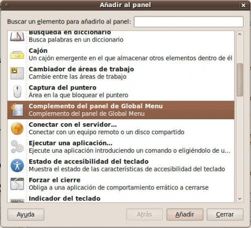 Global Menu - durante