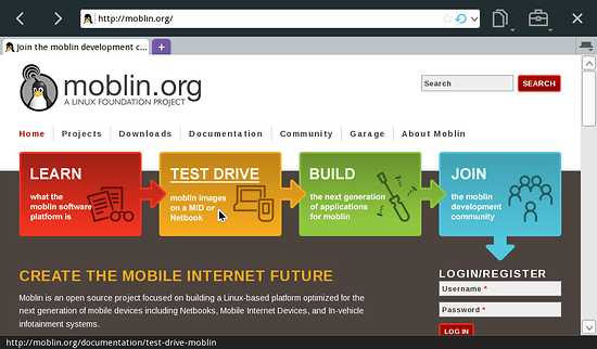 Moblin 2.1 browser
