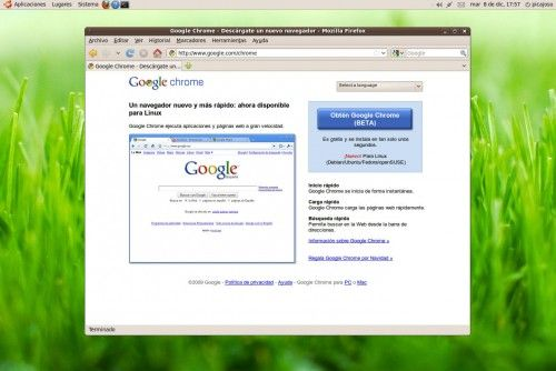Google Chrome Beta para Linux, disponible