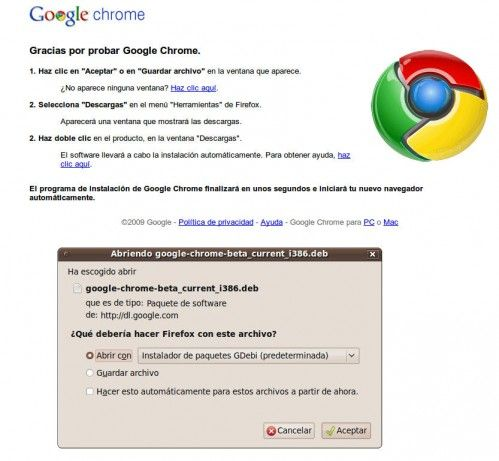 Google Chrome Linux 3