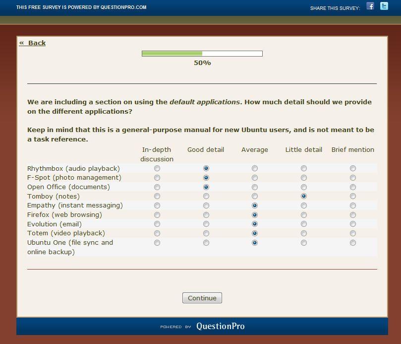 Encuesta manual Ubuntu