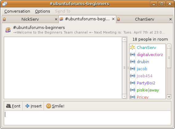 con irc linux