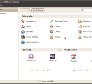 Ubuntu 10.10 - Alpha 3 - Centro Software