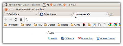 Chrome/Chromium tema Light
