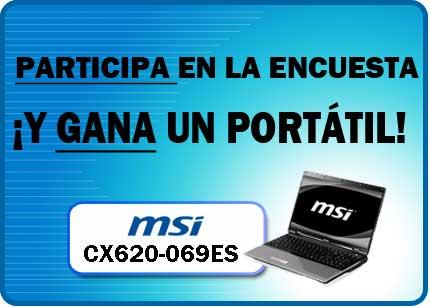 Gana un portátil de MSI