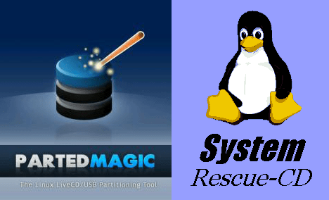 Parted Magic y System Rescue CD