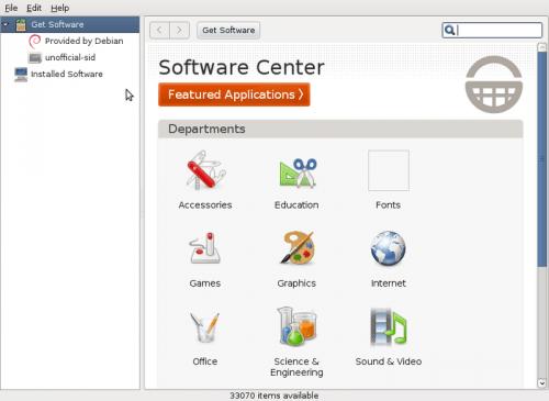 Debian Software Center