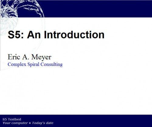S5, o cómo crear presentaciones perfectas para el navegador