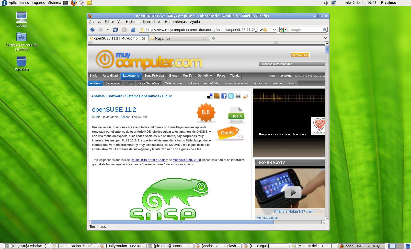 Fedora 12 - Escritorio GNOME 6