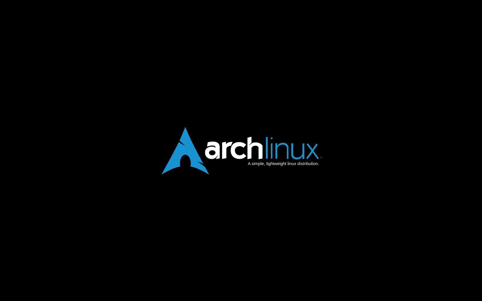 arch linux wallpaper black - photo #4