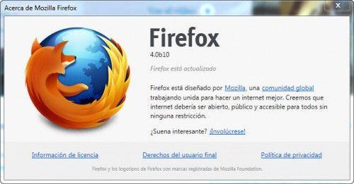 Firefox 4 Beta 10: la penúltima beta, con cambios menores