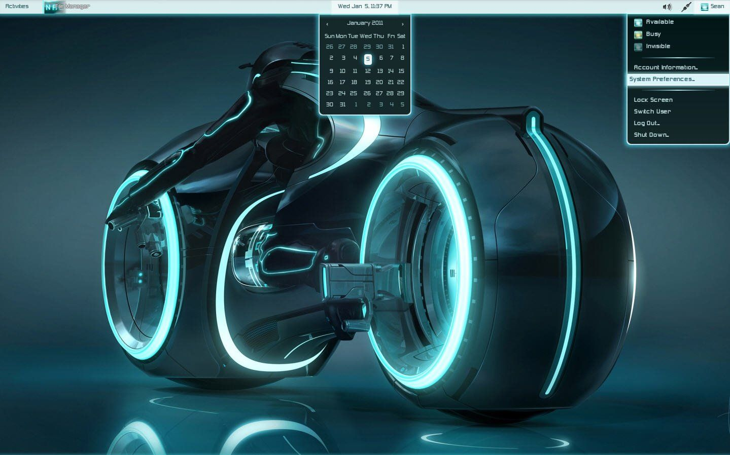 Tron-Legacy-GNOME-Shell-2