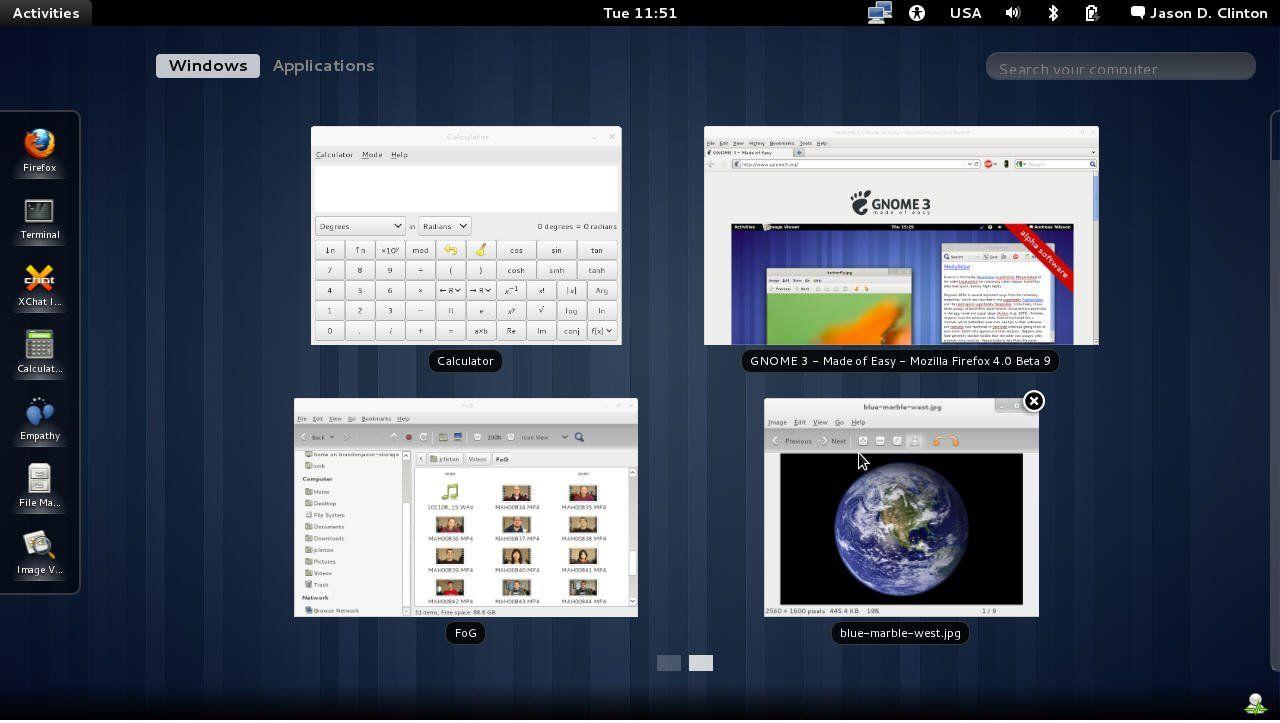 Los Entornos Gráficos de Linux