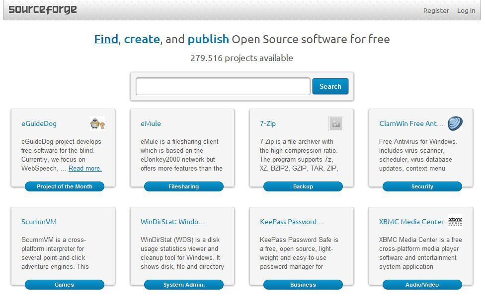 SourceForge-rediseno