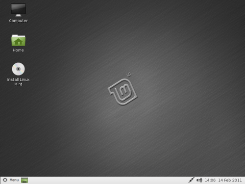 Linux Mint 10 LXDE 'Julia'
