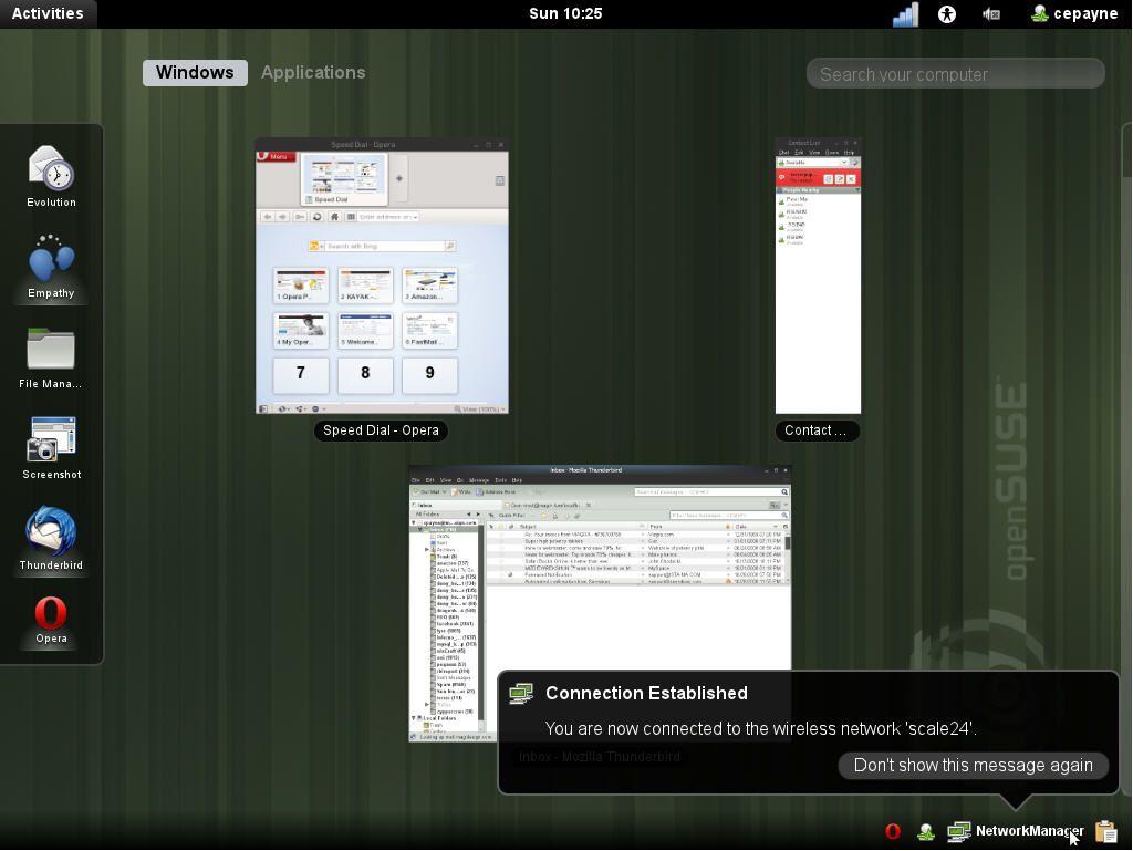 openSUSE-gnome3