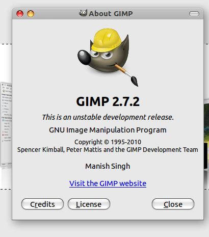 GIMP 2.7.2