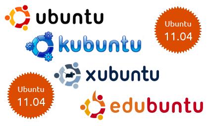 ¡Kubuntu, Xubuntu, Edubuntu, Ubuntu Studio y Mythbuntu 11.04 también están aquí!