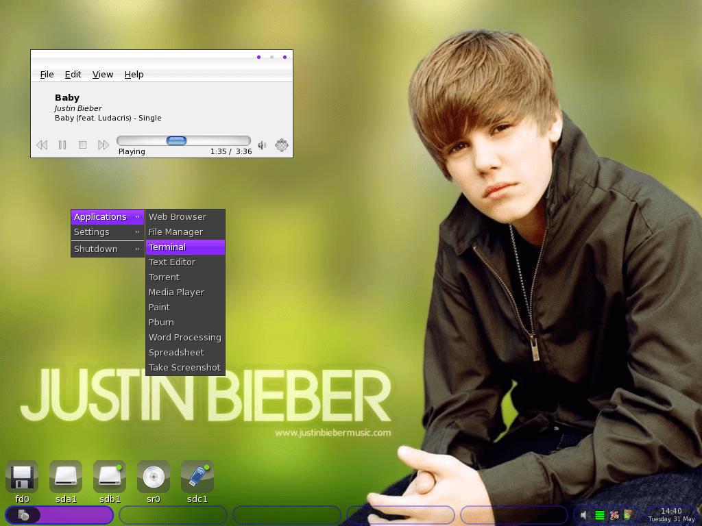 Biebian-JustinBieber-Linux