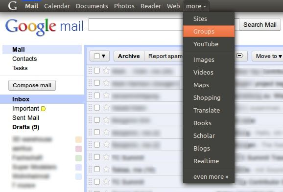 Google menu Ubuntu theme
