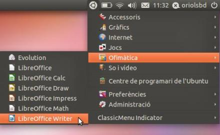 Indicator ClassicMenu Retrieves the classic menu in GNOME Unity
