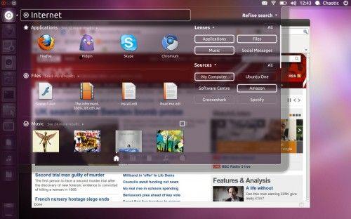 Perfilando el aspecto de Unity Dash en Ubuntu 11.10