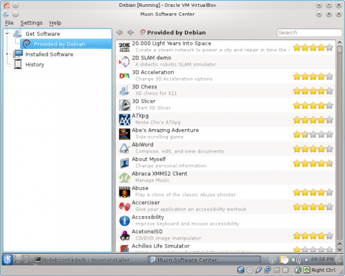 Muon 500x400 debian Suite 1.2.0, new version of the KDE package manager for Debian