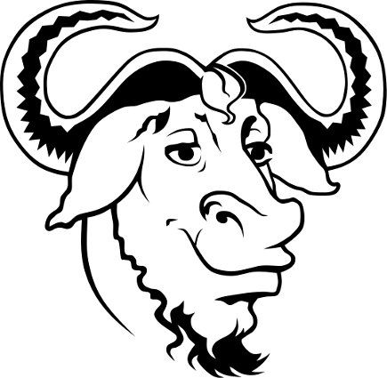 Heckert GNU white Happy Anniversary to the GNU project