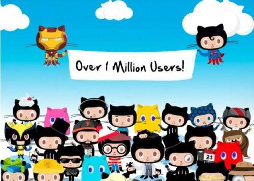 GitHub ya tiene más de 1 millón de usuarios