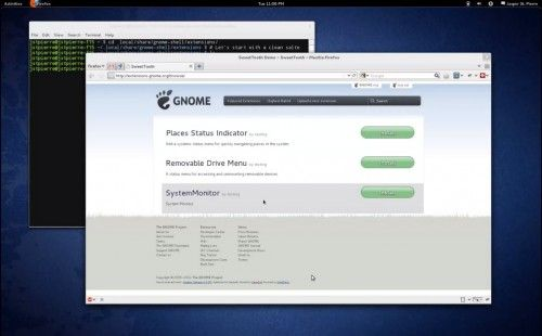 GNOME gnome shell extensions Shell 3.1.91.1 500x310 natively supports extensions