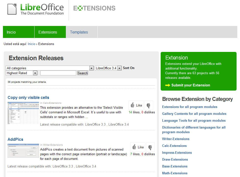 Libreoffice-extensiones