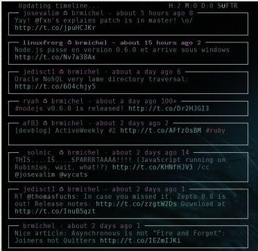 Tyrs: Twitter e Identi.ca desde una terminal con NCurses