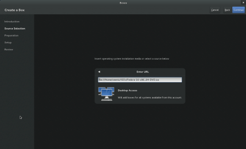 500x303 boxes1 Boxes: Virtualization integrated into GNOME 3.4