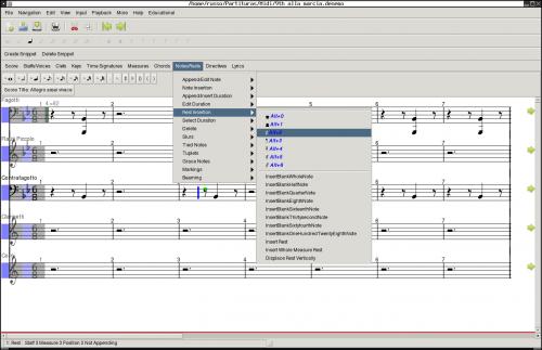 denemo 500x323 Producción y edición de sonido: herramientas fundamentales