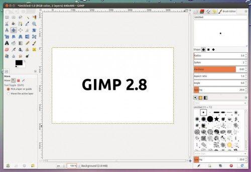 Llegó el momento: GIMP 2.8, disponible