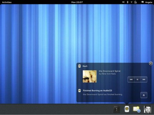 Cambios visuales en GNOME 3.6
