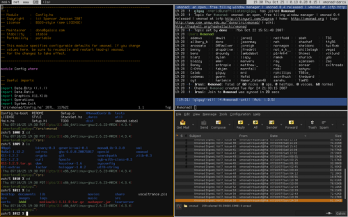 xmonad xmonad 2 500x312, a window manager that makes your desktop tiled