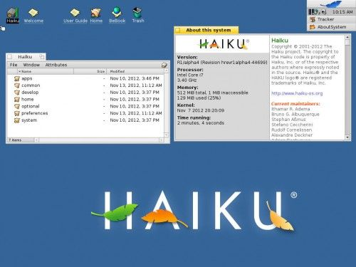 HAIKU Haiku R1 Alpha 3 500x375 4 available, a tribute to BeOS