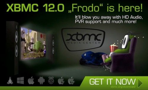 XBMC XBMC 12.0 12 500x305 Frodo Frodo available with official support for Raspberry Pi
