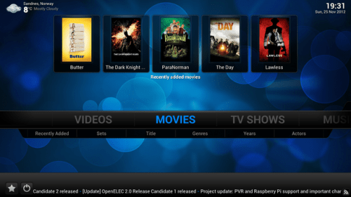 500x280 OpenELEC30 OpenELEC XBMC 12.1 and 3.0 adds support for Raspberry Pi