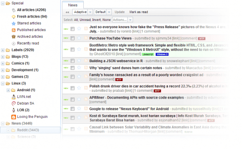 TinyTinyRSS 500x307 In search of more suitable RSS reader